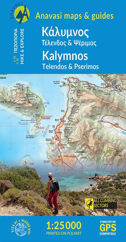 kalymnos hiking map